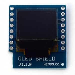 "OLED 0.66"" 64×48 pixels Shield WeMos"