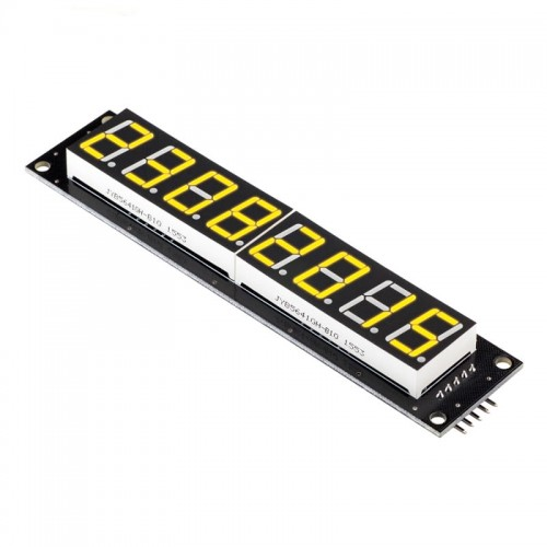 8 Digit LED Display Tube 7 segments 74HC595 YELLOW Color