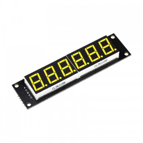 6 Digit LED Display Tube 7 segments 74HC595 YELLOW Color