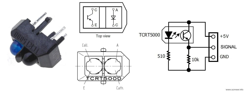 czujnik optyczny na podczerwie u0144 tcrt5000 propix electronics