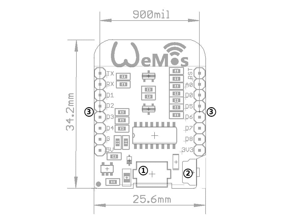 wemos esp8266 d1 mini v2 mini nodemcu propix electronics