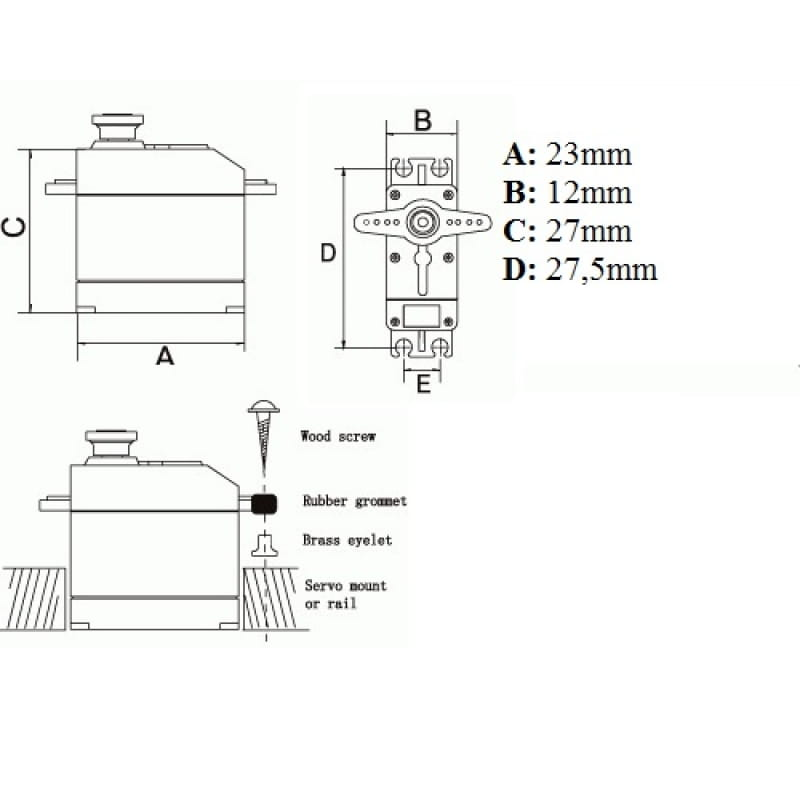 serwo towerpro sg-90s - 9g - 1 8kg  cm