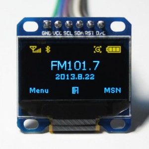 "LCD OLED 0.96"" SPI BLUE - Yellow"