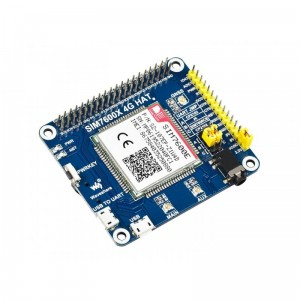 SIM7600E LTE Cat-1 HAT for Raspberry Pi, 3G / 2G / GNSS as