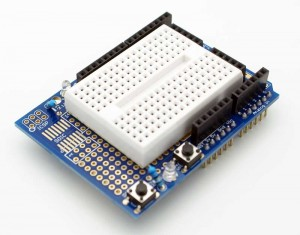 Arduino Uno Prototype Shield w/Breadboard