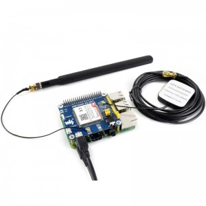 SIM7600E 4G / 3G / 2G / GSM / GPRS / GNSS HAT for Raspberry Pi, LTE CAT4