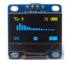 "LCD OLED 0.96"" IIC / I2C BLUE - Yellow"