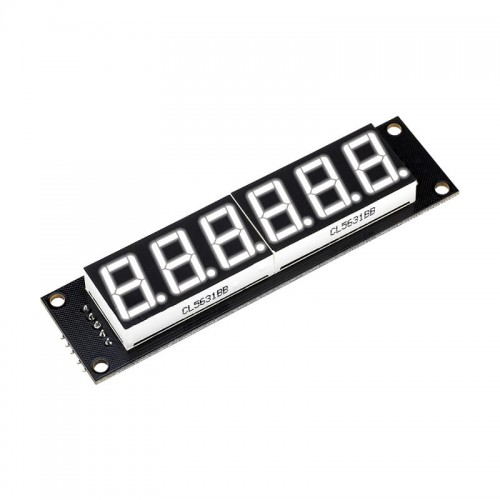 6 Digit LED Display Tube 7 segments 74HC595 White Color