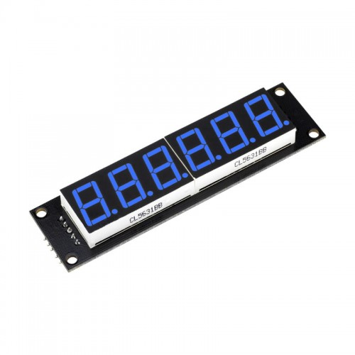 6 Digit LED Display Tube 7 segments 74HC595 BLUE Color