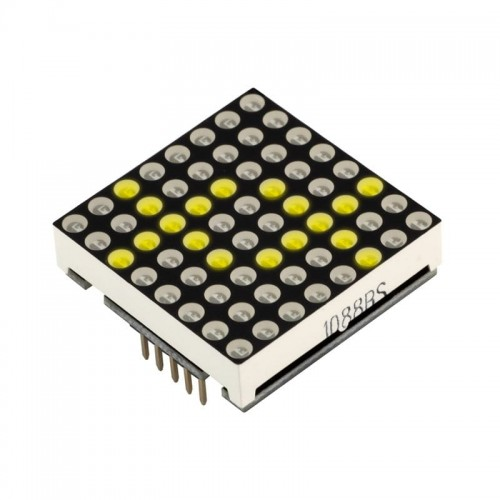 Matrix LED 8x8 module YELLOW color 32x32mm Driver MAX7219
